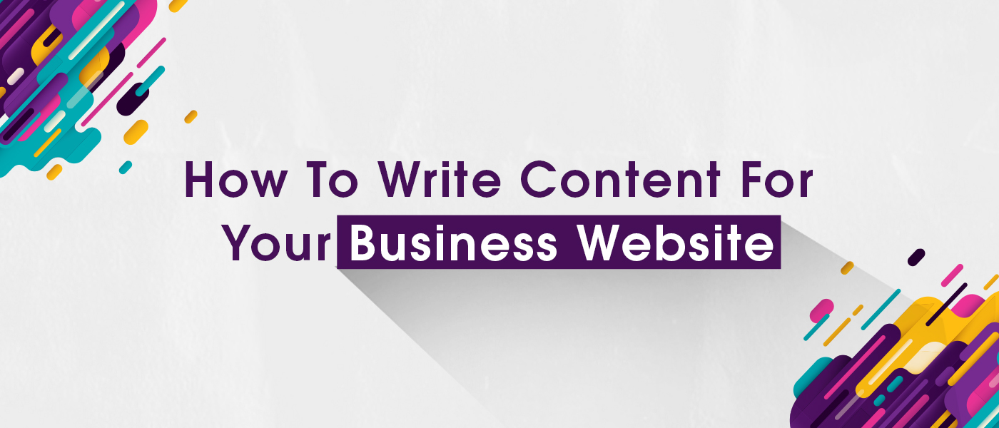 How To Write Content For Your Business Website