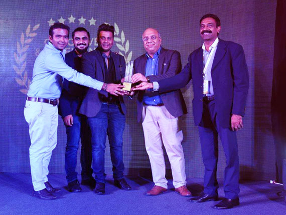 Best Digital agency of the year award @realty plus excellence award 2016 Gujarat